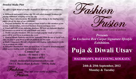 Brochure Design For Boutiques by Brochure Design For Fashion Fusion India S Leading