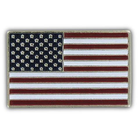 Usa flag lapel pin silver