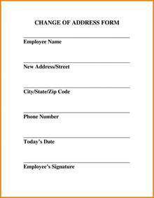 Change Of Address Template Free by Letter Format 187 Change Of Office Address Letter Format