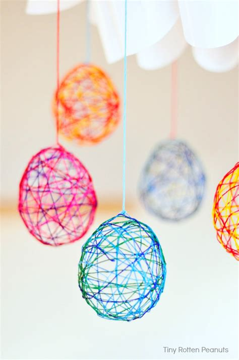 cool crafts cool craft string easter eggs for and robots