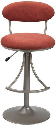Leo Adjustable Swivel Stool by Carson Walnut And Chrome Adjustable Bar Stool Chair