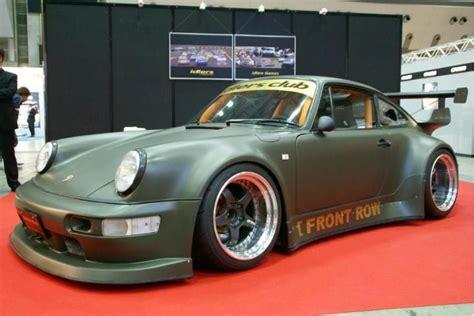 rauh welt porsche green rwb porsche 911 rauh welt begriff 964 army green matte