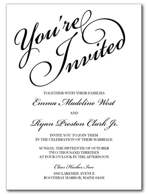 you re invited template wedding invitations you re invited invitation
