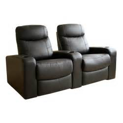 baxton studio barnardine leather home theater recliner
