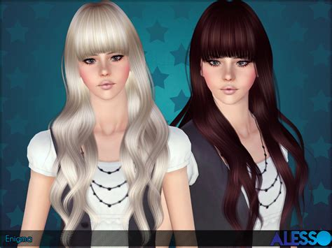 long hair with bangs sims2 the sims 3 premium download do cabelo enigma para the sims 3