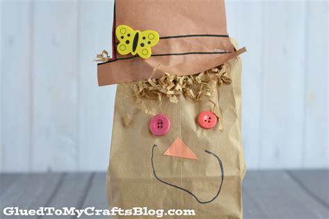 Paper Bag Scarecrow Craft - paper bag scarecrow kid craft