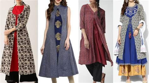 jacket pattern kurti images latest kurti with long jacket design ideas kurti with