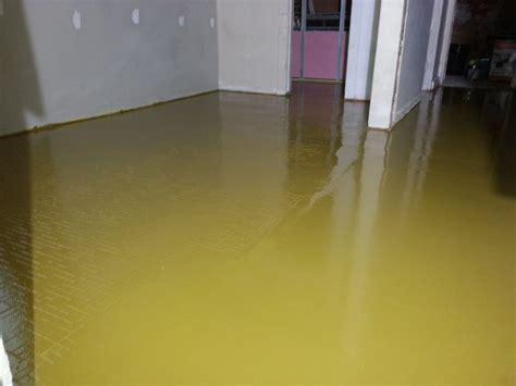 Thin epoxy flooring