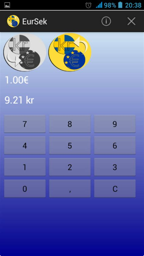 currency converter kr to euro swedish krona euro converter android apps on google play