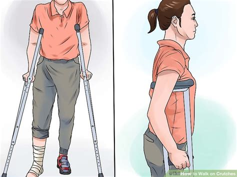 how to your to walk you how to walk on crutches with pictures wikihow