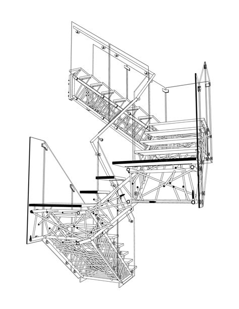 section drawing of staircase staircase section drawing