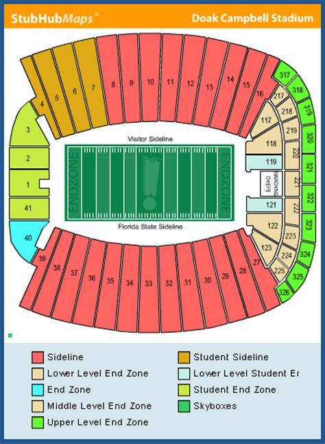 florida state stadium seating chart florida state football doak cbell stadium espn