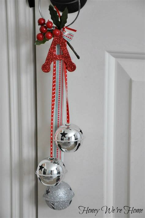 christmas bells door decoration craft jingle bell door hangers sticker magnets honey we re home