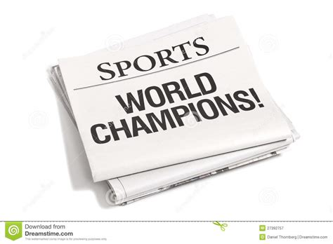 Sports Section by Newspaper Headlines Sports Section Royalty Free Stock