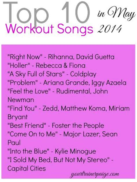 best summer songs top 10 workout songs in summer 2014