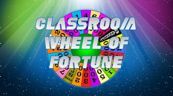 Wheel Of Fortune Classroom Classroom Wheel Of Fortune Template By Handy Teaching Tools Tpt