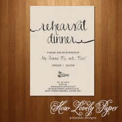 printable rehearsal dinner invitation the collection