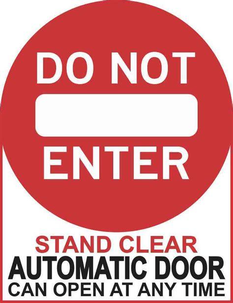Automatic Door Signage - automatic door signage smartsign sided window