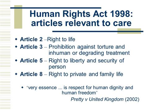 the human rights act dementia protection of human rights ppt video online