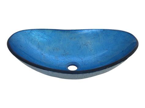blue glass vessel sink blue oval glass vessel sink