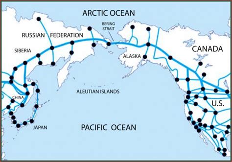 america map bering strait join russia and usa by rail tunnels the bering