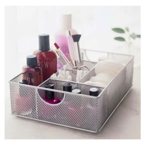 vanity organizer ideas design ideas mesh file vanity organizer tray silver