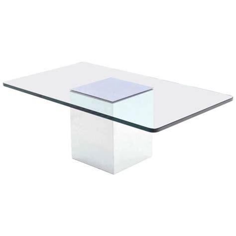 rectangle glass top coffee table polished steel cube shape base rectangle glass top coffee