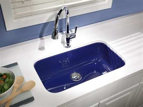 coloured kitchen sinks 15 easy ways to add color to your kitchen hgtv