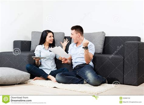 young couple room young couple living room stock photography image 35680132