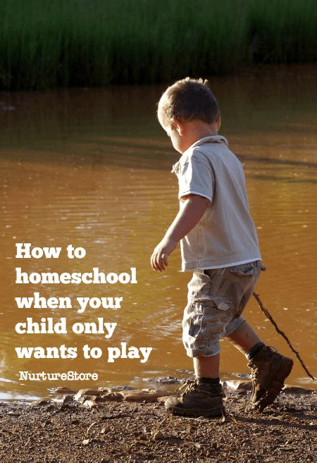 when your kids only want how to homeschool when your child only wants to play nurturestore