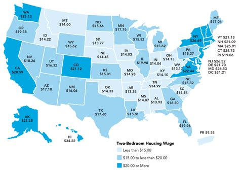 average rent by state minimum wage workers can t even afford to rent a 1 bedroom