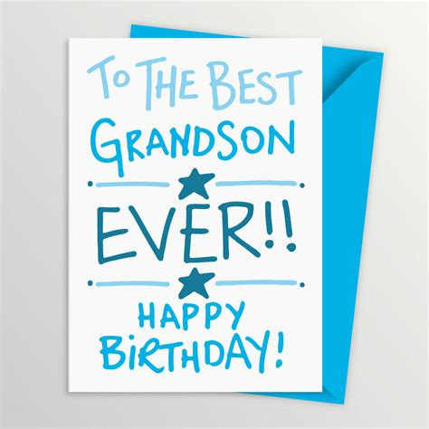 Grandson Birthday Card Grandson Birthday Card By A Is For Alphabet