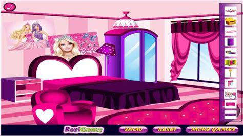 home decor on line barbie fan room decoration girls game baby games hd