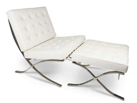 Barcelona Chair And Ottoman Barcelona Chair And Ottoman White