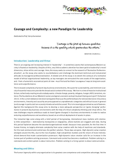 Courage Essays by Essay Courage