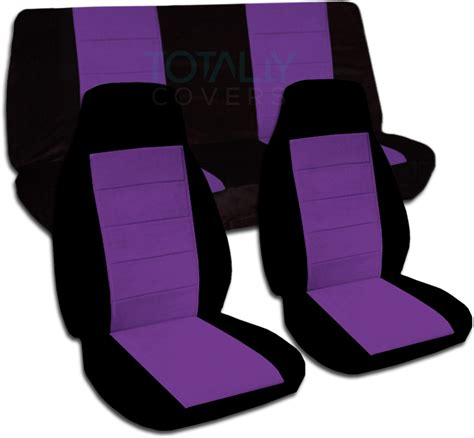 purple seat covers for cars two tone car seat covers set semi custom black