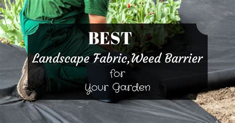 how to select the best landscape fabric weed barrier for