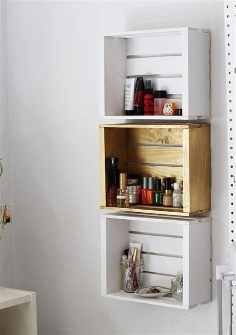 crate shelves bathroom 39 wood crate storage ideas that will have you organized