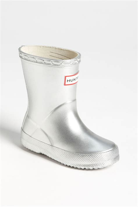 silver kid shoes gloss waterproof boot toddler