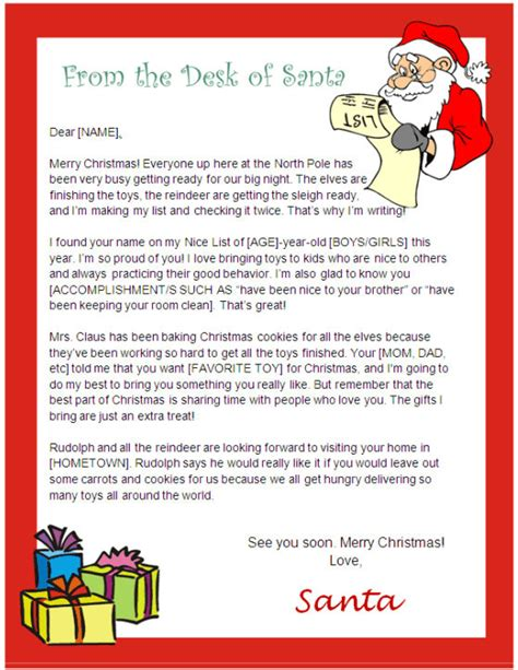 printable letters from santa australia printable letter from santa and nice list certificate