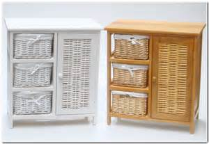 bathroom storage cabinets from rattan