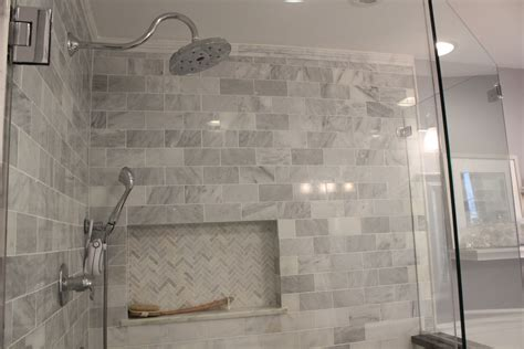 Bathroom Ideas Calacatta Marble Herringbone Tiles