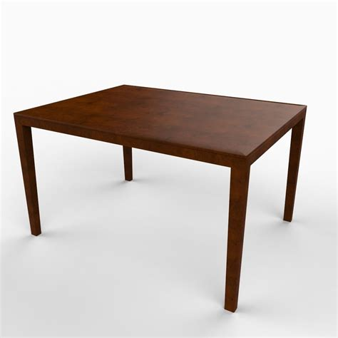 Dining Table Simple Simple Dining Table 3d Model Max Obj 3ds C4d Lwo Lw Lws Ma Mb Cgtrader
