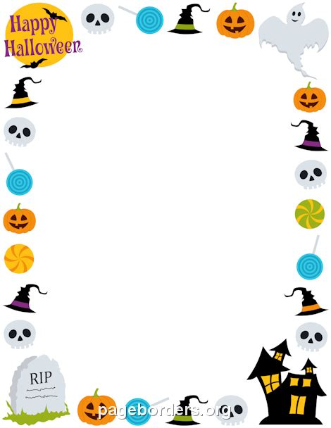 halloween templates for word printable happy halloween border use the border in