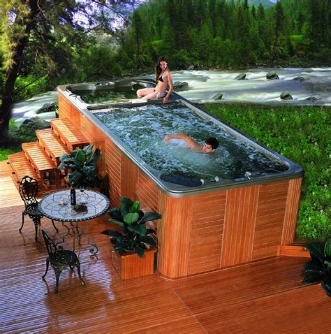swim spa backyard designs best 25 pool spa ideas on pinterest modern pools pool