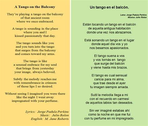 preguntas en español traducidas en ingles las letras que escrib 237 cuando el tango se lee en ingl 233 s