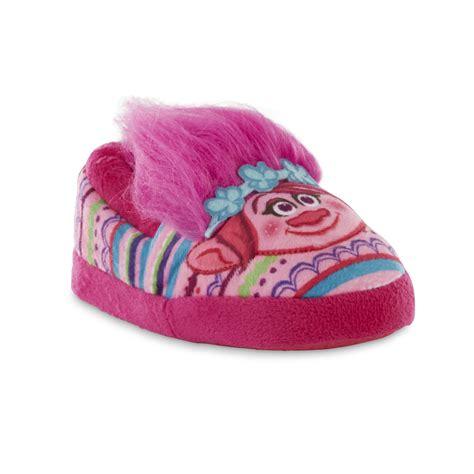 pink toddler slippers dreamworks toddler trolls pink slipper
