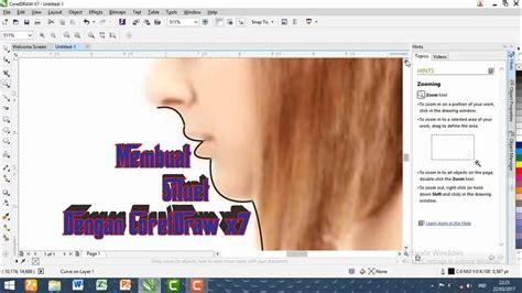 tutorial edit video dengan corel video studio x7 tutorial membuat siluet dengan coreldraw x7 youtube