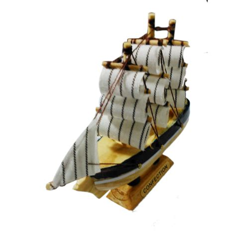 wooden home decor ship