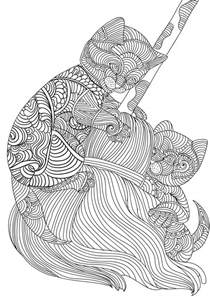 cat coloring pages for adults best coloring books look at these cats an